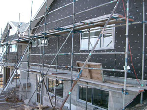 Solid plastering information page plasterers caps spacers for Modern alternatives to stucco